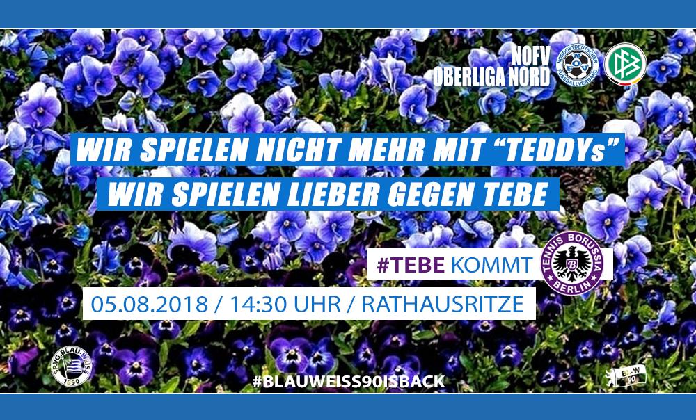 NOFV-Oberliga-Nord 1. Spieltag: TeBe kommt in die Rathausritze