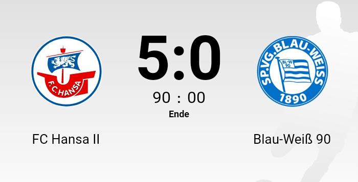 Deftige Niederlage gegen Hansa Rostock II