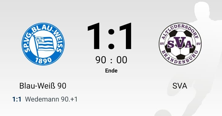 Unentschieden gegen den SV Altlüdersdorf
