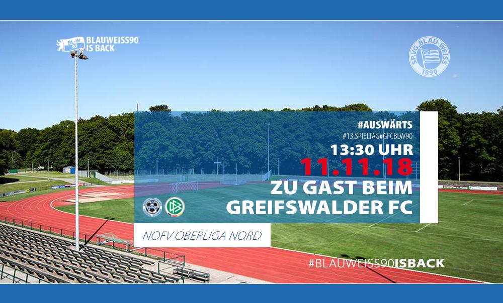 Vorbericht zum Auswärtsspiel gegen den Greifswalder FC