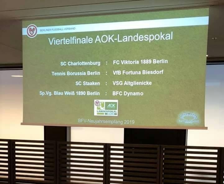Gegen den BFC Dynamo im AOK-Landespokal!