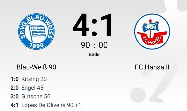 Deutlicher Sieg gegen die Amateure von Hansa Rostock!