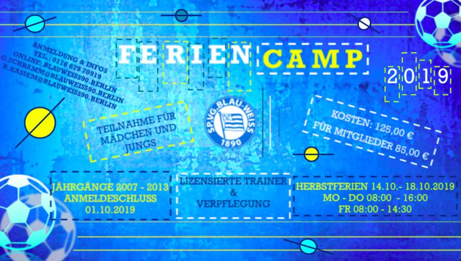 Das Blau Weiße Herbst-Feriencamp 2019