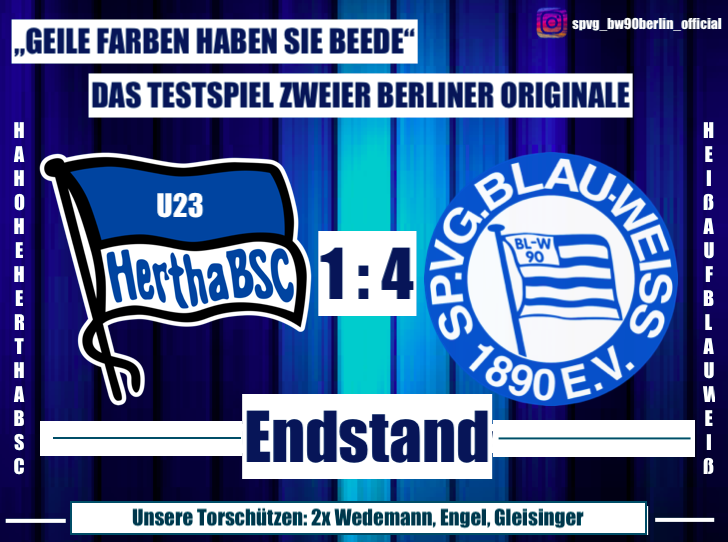 Testspielsieg gegen Hertha BSC U23