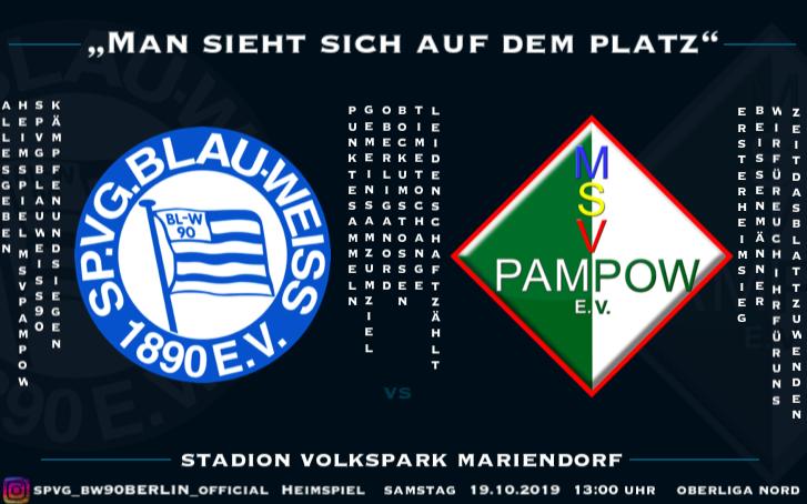 Vorschau Blau Weiß 90 vs MSV Pampow