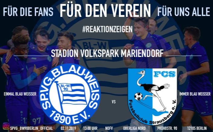 Reaktion zeigen gegen den FC Strausberg