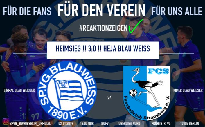 Heimsieg gegen den FC Strausberg  (Oberliga Nord)