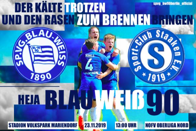 Heimspiel gegen den SC Staaken