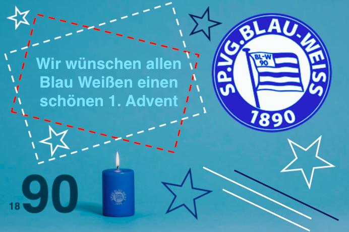 Blau Weißer 1. Advent