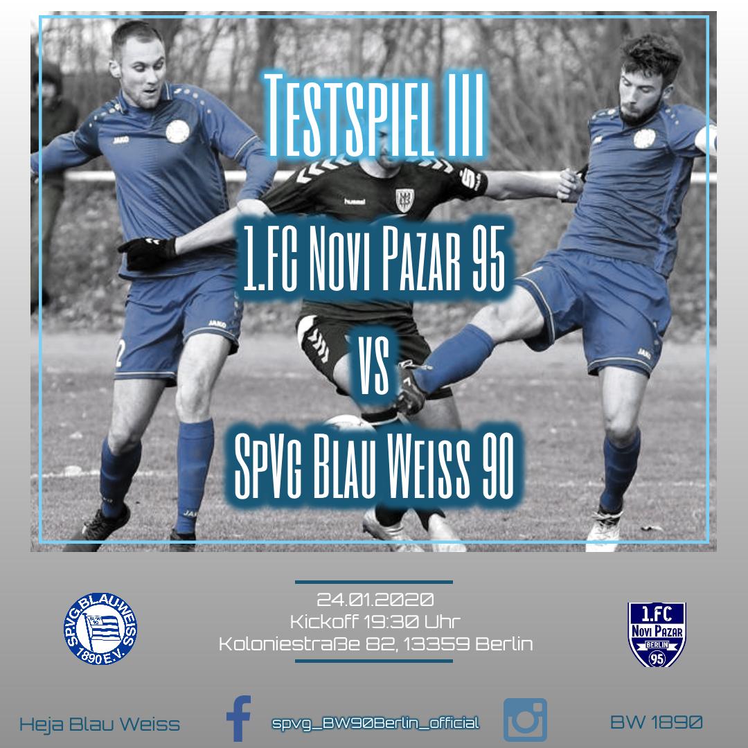 Testspiel gegen den 1.FC Novi Pazar