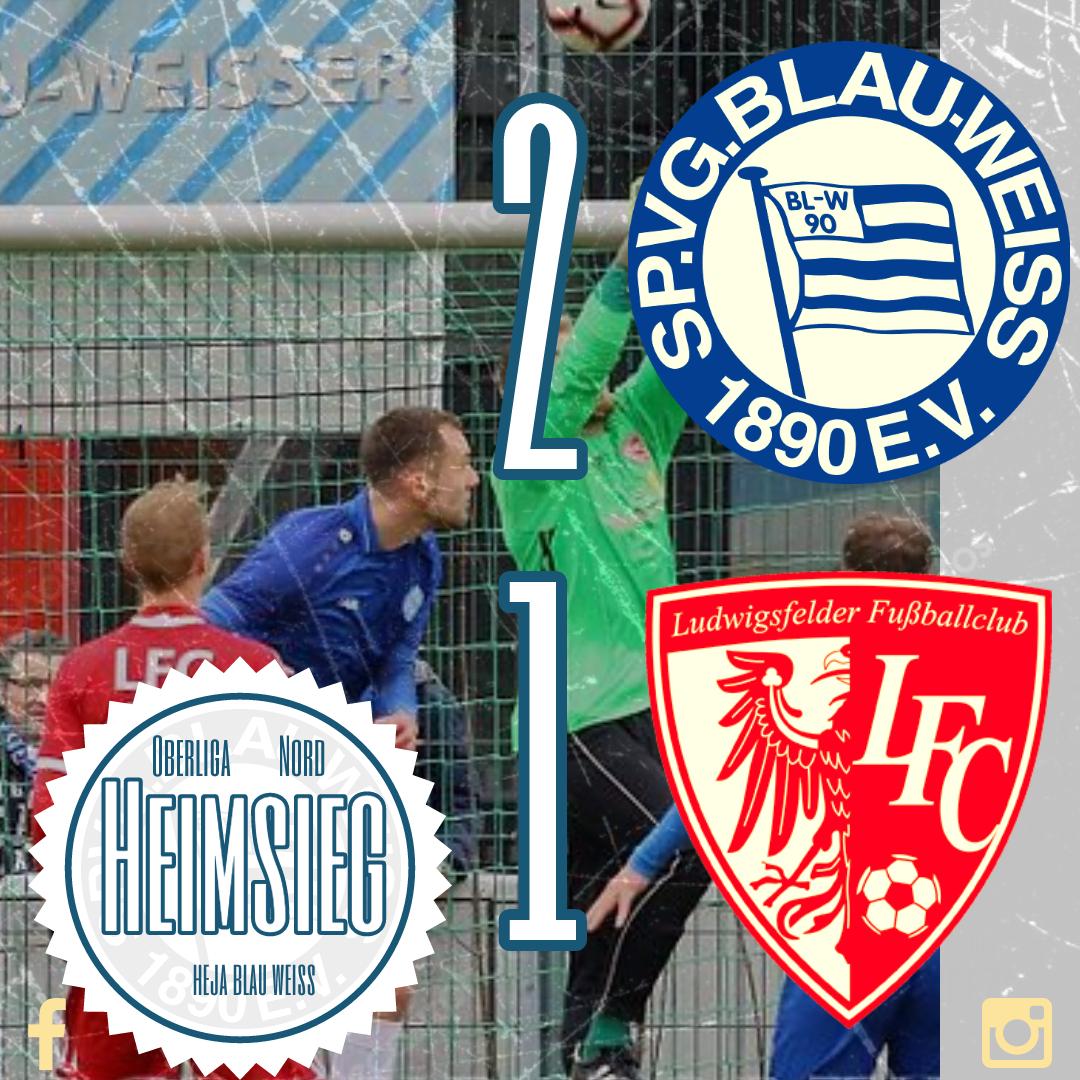 Heimsieg gegen den Ludwigsfelder FC fast vom Winde verweht