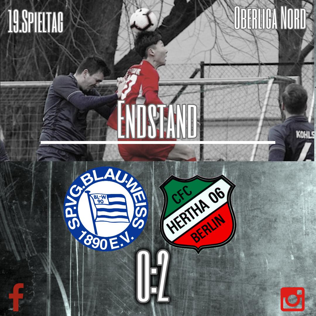 Heimniederlage gegen CFC Hertha 06