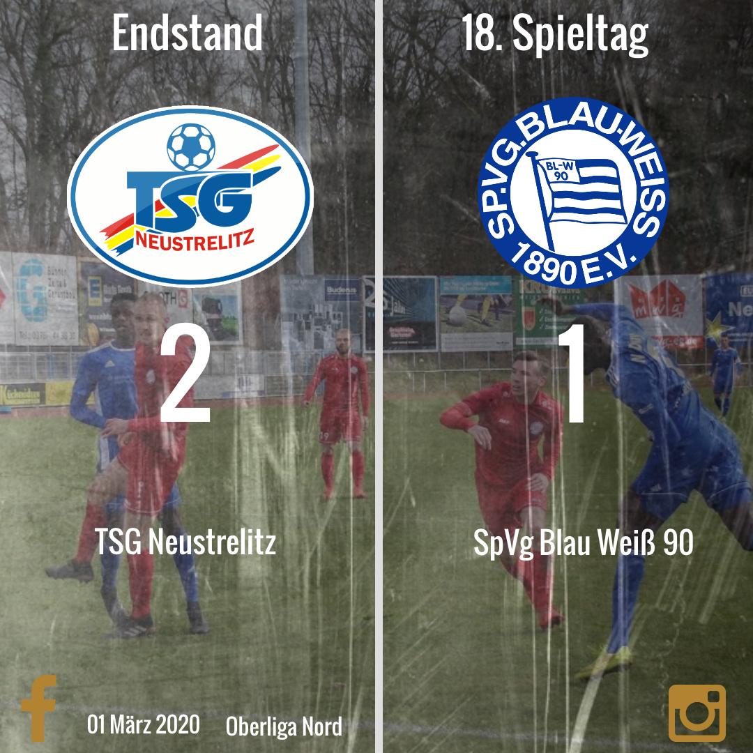 Niederlage in Neustrelitz