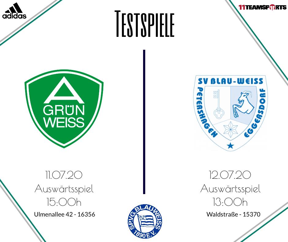 Testspiele unserer Oberligaliga Mannschaft