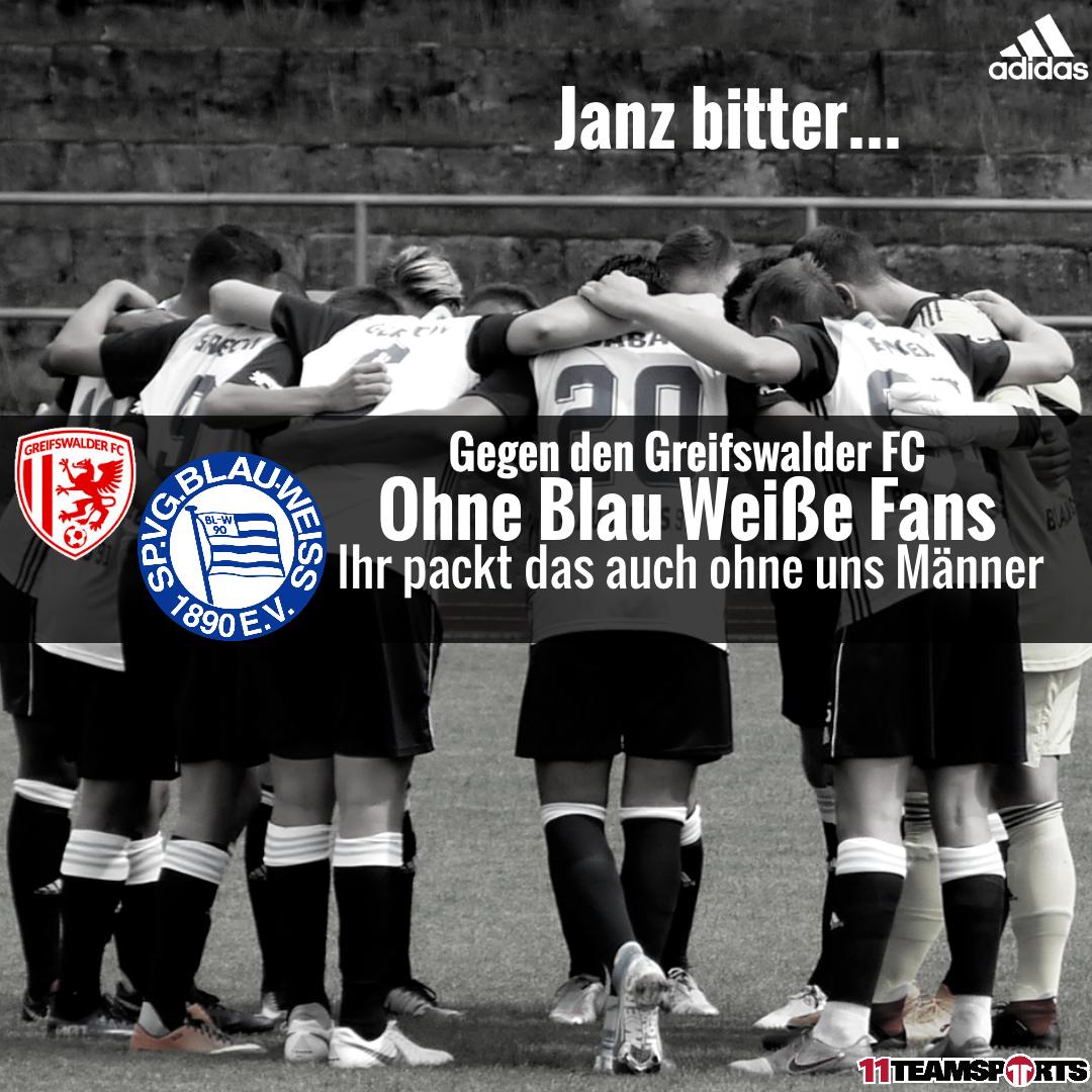 Keine Blau Weißen Fans in Greifswald