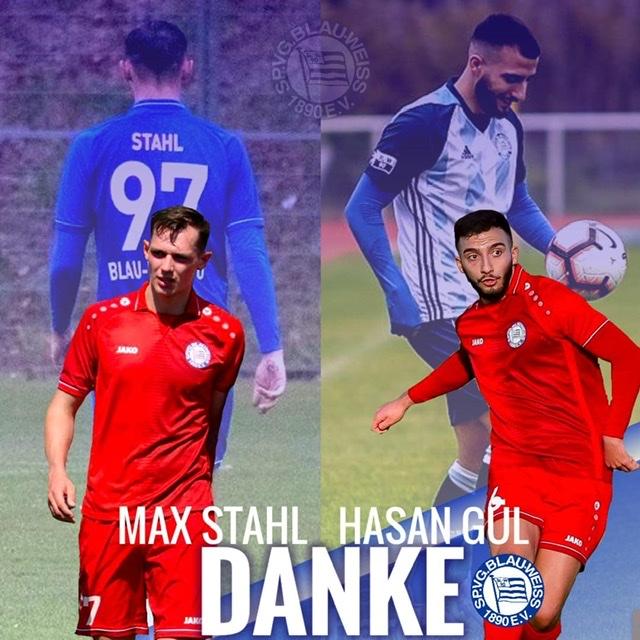 """Unsere SpVg sagt """"Danke"""" bei Max Stahl und Hasan Gül, die unseren Verein verlassen."""