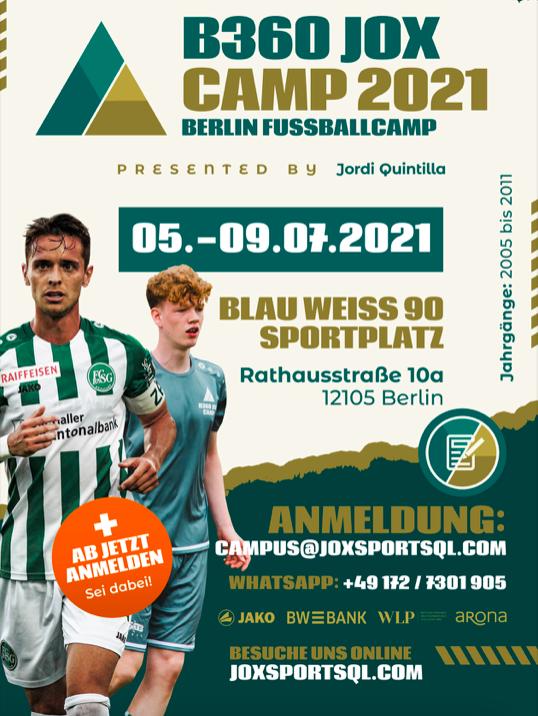 Fußballcamp B360 Jox 2021